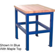 """Stand d'atelier standard de rite bâti, bord carré du bloc de boucherie en érable, 24""""L x 36""""P x 30""""H, beige"""