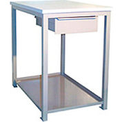 24 x 36 X 24 tiroir / tablette Shop Stand - plastique - noir