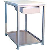 """Tiroir en rite construit, support d'atelier d'étagère, bord carré du bloc de boucherie, 24""""L x 36""""P x 30""""H, bleu"""
