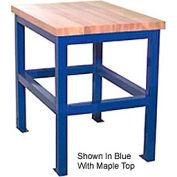 "Built-Rite Standard Shop Stand, Maple Butcher Block Square Edge, 24""W x 36""D x 36""H, Gray"