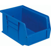 Quantum Hanging & Stacking Storage Bin QUS221 6 x 9-1/4 x 5 Blue - Pkg Qty 12