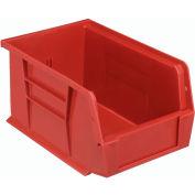 Quantum Plastic Storage Bin - Small Parts QUS221 6 x 9-1/4 x 5 Red - Pkg Qty 12