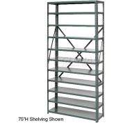 """Open Style Steel Shelf With 6 Shelves No Bins 36""""Wx18""""Dx39""""H Ready To Assemble"""