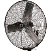 TPI CACU24W 24 Inch Wall Mount Fan Non Oscillating 1/4 HP 3400 CFM 1 PH