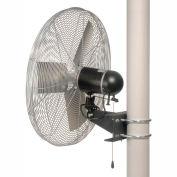 TPI AC30-EX1-PM, 30 Inch Pole Mount Fan 1/4 HP 5400 CFM 1 PH Explosion Proof Motor
