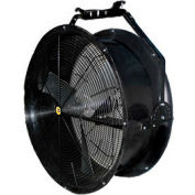 "J&D 36"" Black Poly Chiller Drum Fan With Bracket VPRF36 1/2 HP 10120 CFM"
