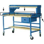 "72""W X 30""D Back & End Stops - Blue"