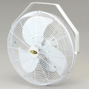 "J&D 18"" Fan With Wall Ceiling Bracket 1/5 HP 1550 CFM, White"