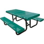"""120"""" Table de Surface Mount pique-nique du bord radial, perforé métal - vert"""