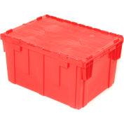 Global Industrial™ Plastic Attached Lid Shipping & Storage Container 28-1/8x20-3/4x15-5/8 Red