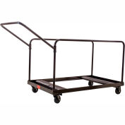 """Interion® Table Cart For 48"""" and 60"""" Round Folding Tables Holds 10"""