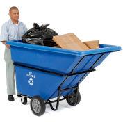 Deluxe Blue Extra HD Plastic Recycling Tilt Truck 1 Cu. Yd. & 2100 Lb. Cap.