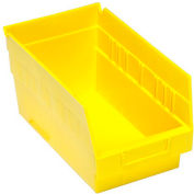 """Quantum Plastic Shelf Bin - QSB202 6-5/8""""W x 11-5/8""""D x 6""""H Yellow - Pkg Qty 30"""