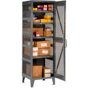"Durham Welded Mesh Side Storage Locker VSC-242478-95 - 24""W x 24""D x 78""H"