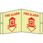 Fire Alarm Sign - Glow Acrylic 8 x 14-1/2