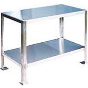 "Jamco Machine Stand W/ Angled Leg, 16 Ga 430 Stainless Steel Top, 36""W x 24""D"
