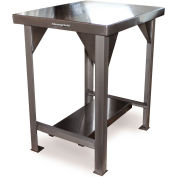 """StrongHold Machine Stand W/ Shelf, 12 Ga 304 Stainless Steel Top, 30""""W x 24""""D"""