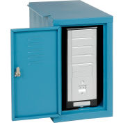 Global Industrial™ Security Computer CPU Enclosed Cabinet Side Car, Blue