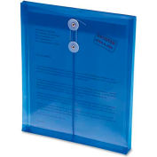 """Smead Ultracolor Expandable Poly String Tie Envelopes, Top Load, 8-1/2""""W x 11""""H, Blue, 5/Pack"""