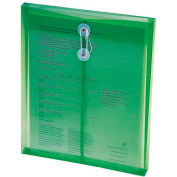 """Smead Ultracolor Expandable Poly String Tie Envelopes, Top Load, 8-1/2""""W x 11""""H, Green, 5/Pack"""