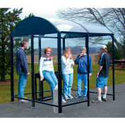 "No Butts 4 Sided Smoking Shelter NBS0408FS - Freestanding - 3'6""W x 7'D x 8'2""H Black"