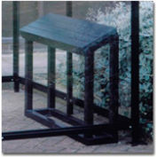 """Perch Seat BH01 for No Butts Smoking Shelters 40""""W x 12""""D x 32""""H - Black"""