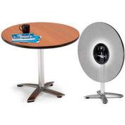 "OFM 42"" Round Flip-Top Multi-Purpose Table, Gray Nebula"