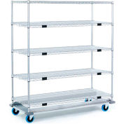 Nexel® Open Sided Wire Exchange Truck 5 Wire Shelves 1000 Lb. Cap.
