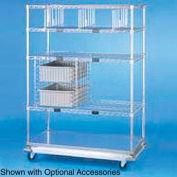 Nexel® Open Sided Wire Exchange Truck 4 Wire 1 Galvanized Shelf 1000 Lb Cap