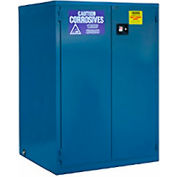 "Global Industrial™ Acid Corrosive Cabinet, Manual Close Double Door 60 Gallon, 34""Wx34""Dx65""H"