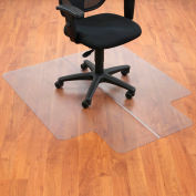"Office Chair Mat for Hard Floor - 45""W x 53""L with 25"" x 12"" Lip - Straight Edge"
