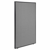"Office Partition Panel, 48-1/4""W x 72""H, Gray"