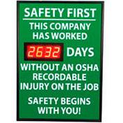 Signal de tableau de bord de sécurité numérique - sécurité en premier, cette société, OSHA