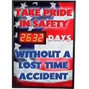 Signal de sécurité numérique de tableau de bord - fiers en toute sécurité