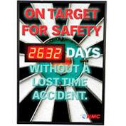 Signe de tableau de bord sécurité numérique - sur la cible pour la sécurité...
