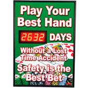 Signal de sécurité numérique de tableau de bord - jouer votre meilleure main...