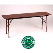 Correll Folding Table - Laminate - 18 X 96 - Walnut