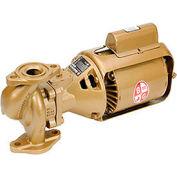 Pompe à circulateur à trois pièces bronze série 100 BNFI 106197LF-1/12 HP