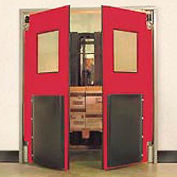 "Aleco® 6'0"" x 8'0"" Twin Panel Heavy Duty Red Impact Door 435034"