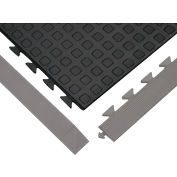 "Anti-Fatigue Rejuvenator Urethane Tile Matting Tile Black 5/8"" Thick 36x36"