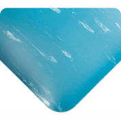 """Antimicrobial Tile Top Antifatigue Mat 1/2"""" Thick 3 Ft Wide Up To 60 Ft Blue"""