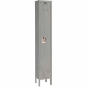 Hallowell U1818-1A-HG Premium Locker Single Tier 18x21x72 1 Door Assembled Gray