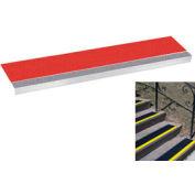 "Grit Surface Aluminum Stair Tread 7-1/2""D 30""W Glued Down Grayred"