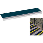 "Grit Surface Aluminum Stair Tread 7-1/2""D 30""W Glued Down Graygreen"