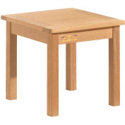 "Oxford Garden® 18"" Square Outdoor End Table - Teak"