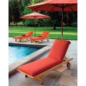 Oxford Garden® Oxford Chaise Cushion - Dupione Papaya