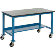 60 x 36 Phenolic Resin Safety Edge Mobile Lab Bench