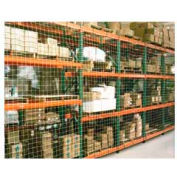 "Pallet Rack Netting Two Bay, 294""W x 48""H, 1-3/4"" Sq. Mesh, 1250 lb Rating"