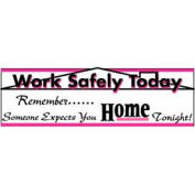 Banner, Work Safety Today 3ft x 10ft