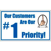 Banner, Our Customers Are Our # 1 Priority, 3ft x 5ft
